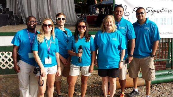 Part of the Key Signature team that worked the 2014 Matthews Alive Festival